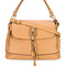 Chloé - owen flap tote bag - women - leather - one size, brown, leather