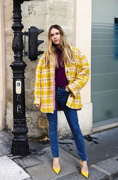 shoes yellow yellow pumps pernille teisbaek blogger instagram shirt jeans