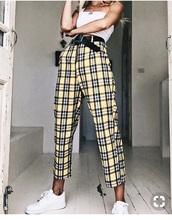 pants,yellow black