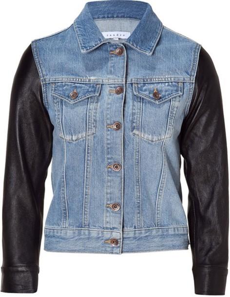 jacket denim jacket leather jeans blue black foxx foe