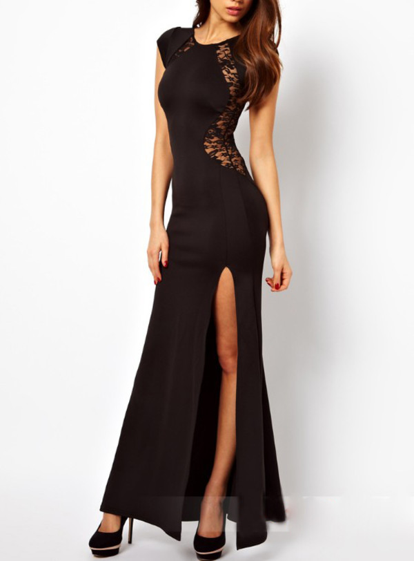 dress lace dress black dress