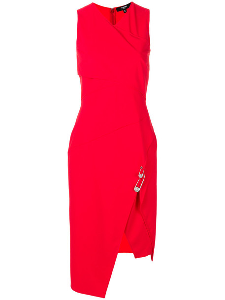 Versus dress wrap dress sleeveless women spandex red
