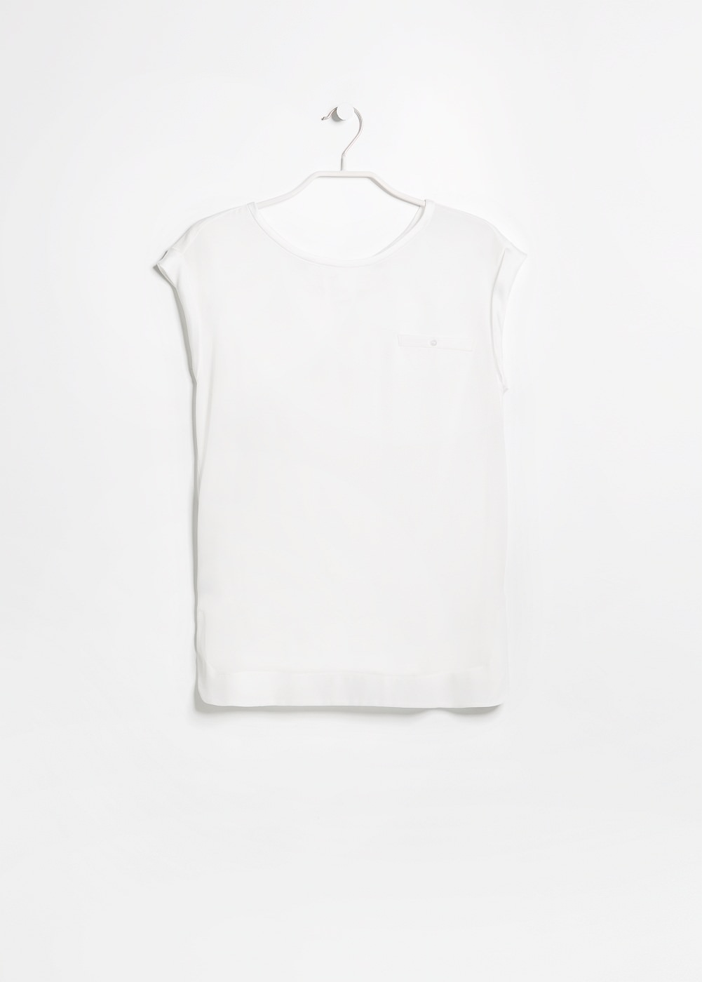 Satin appliqué t-shirt -  							T-shirts and tops - 							Women - 							MANGO