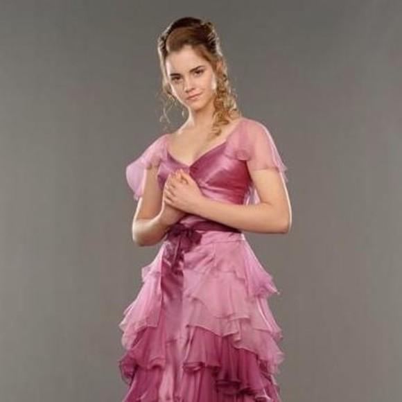 hermione harry potter pink dress prom dress