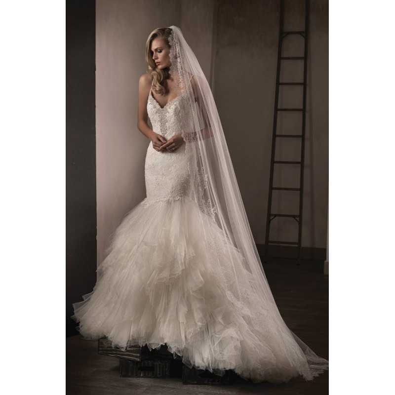 Style T192015 by Jasmine Couture - Ivory  White Lace  Tulle Floor Sweetheart  Straps Wedding Dresses - Bridesmaid Dress Online Shop