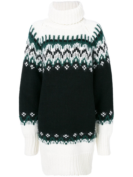 dress women mohair black wool knit