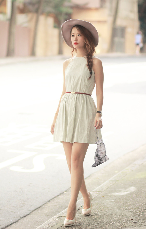 mellow mayo blogger bag hat dress