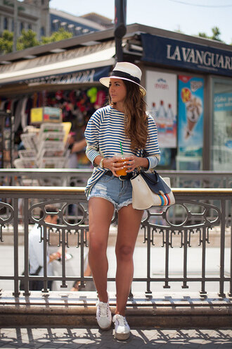 lovely pepa blogger top bag shorts hat shoes jewels