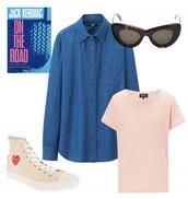 shirt,t-shirt,sunglasses,shoes