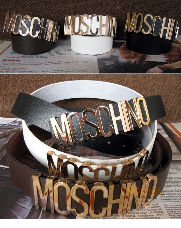 'MOSCHINO' Embellished Black Belt | Pariscoming