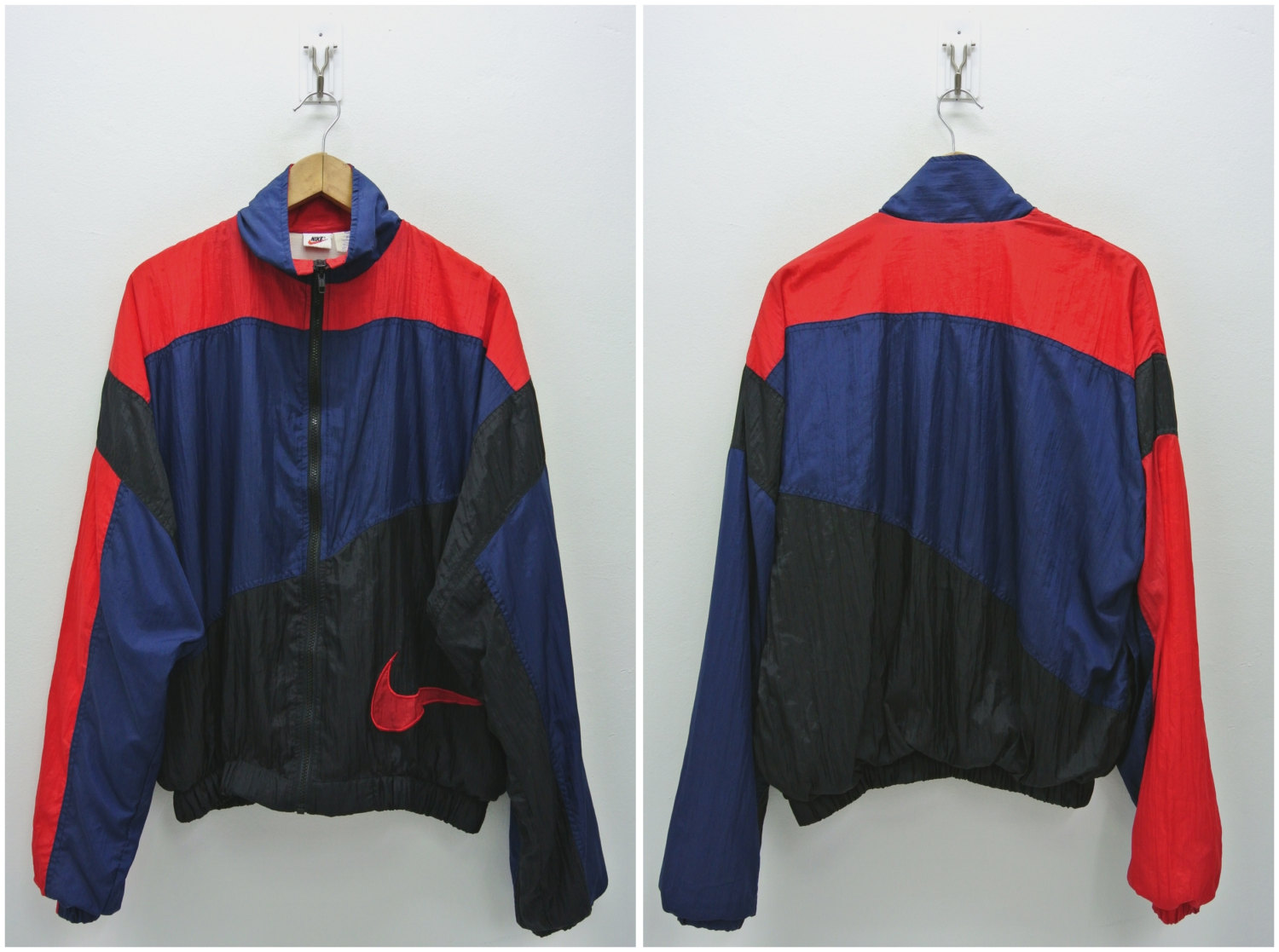 05c248b787755 Nike Windbreaker Men Large Vintage 90s Nike Jacket Vintage Nike Color Block  Windbreaker Nike Nylon Windbreaker Nike Men Size L