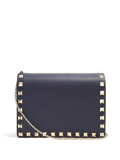 Valentino bag shoulder bag leather navy