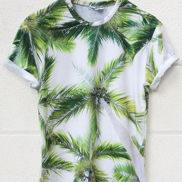 Mr Gugu & Miss Go Palm Tree TShirt White on Wanelo