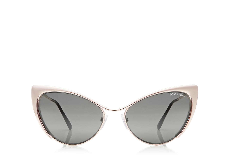 Tom Ford Nastasya Metal Cat-Eye Sunglasses