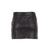 milly leather mini skirt in black shimmer | eve's apple