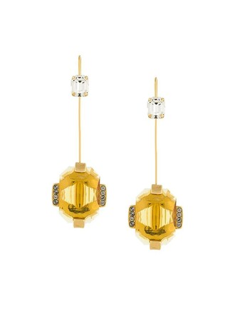 women earrings yellow orange jewels