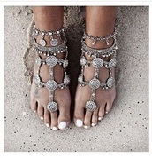 jewels,silver jewelry,anklet,accessories,egyptian,beach wedding,boho jewelry