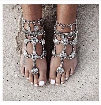 jewels silver jewelry anklet accessories egyptian beach wedding boho jewelry
