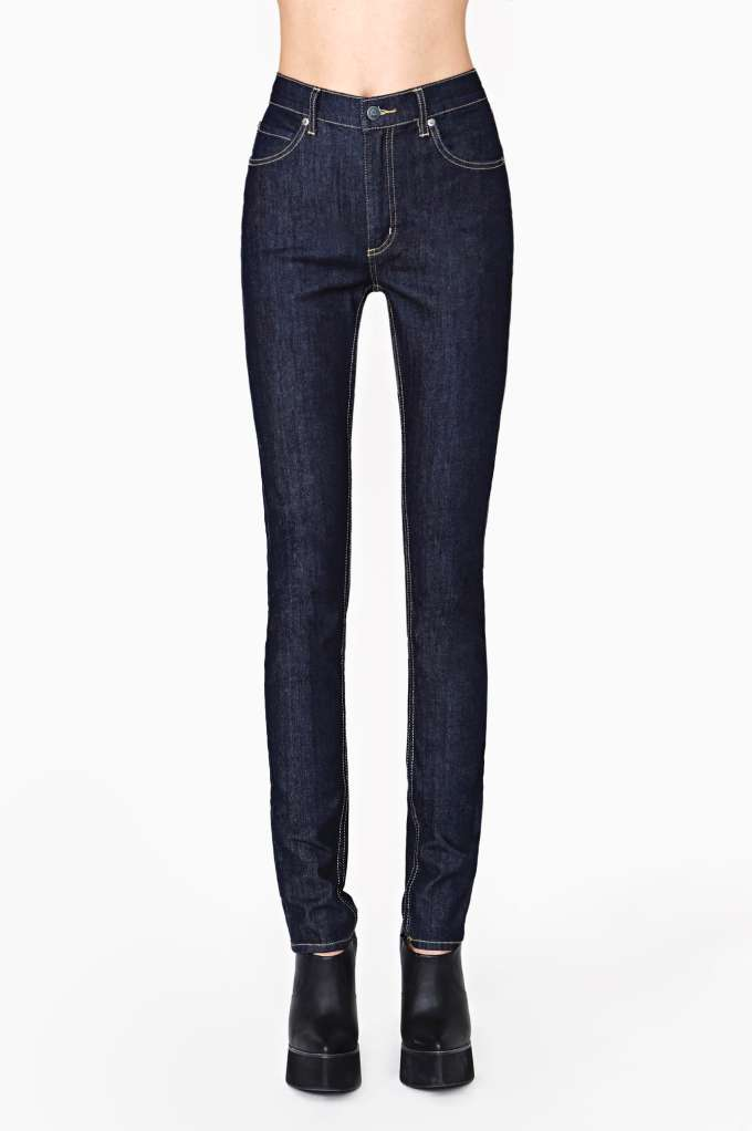 Cheap Monday Second Skin Jeans - Blue Dry  in  Clothes Bottoms at Nasty Gal