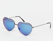 sunglasses,blue sunglasses,heart sunglasses