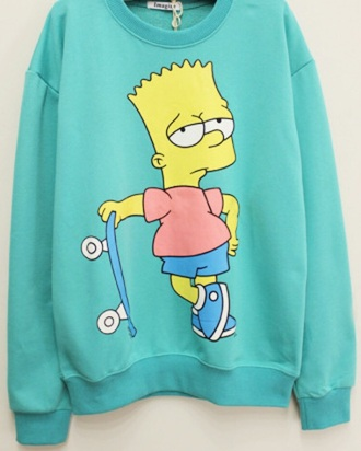 sweater bart simpson oversized sweater