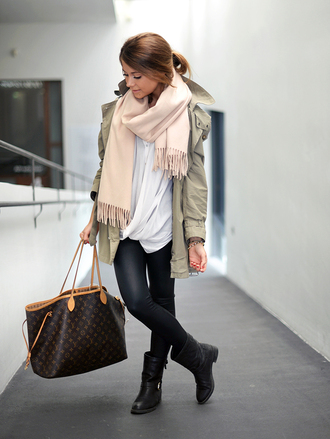 mariannan coat scarf shoes pants