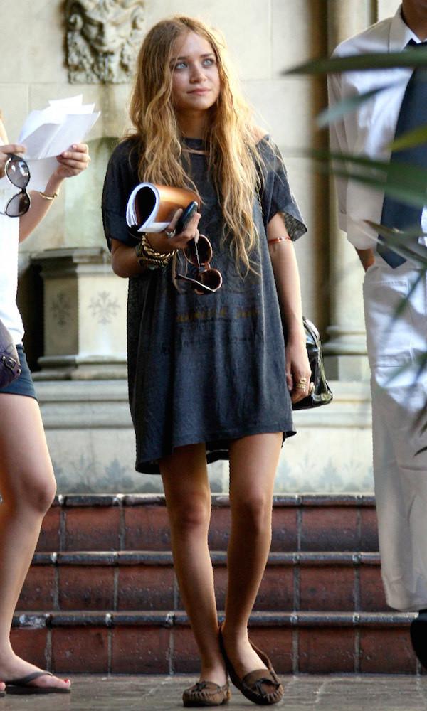 dress mary kate olsen flats summer dress tshirt dress