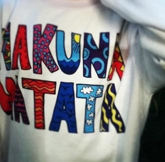 sweater tribal sweater hakuna matata lion king tribal pattern white sweater hipster kakunamatata