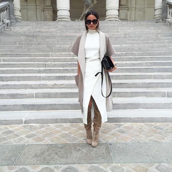 5c5ef77129f fashion vibe blogger skirt sunglasses coat sweater shoes bag classy white  dress.