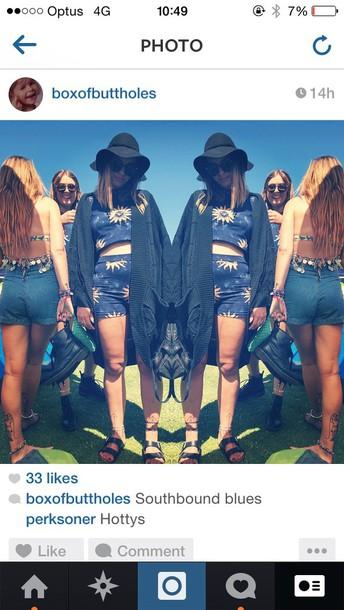 shorts biho gypsy festival matching set