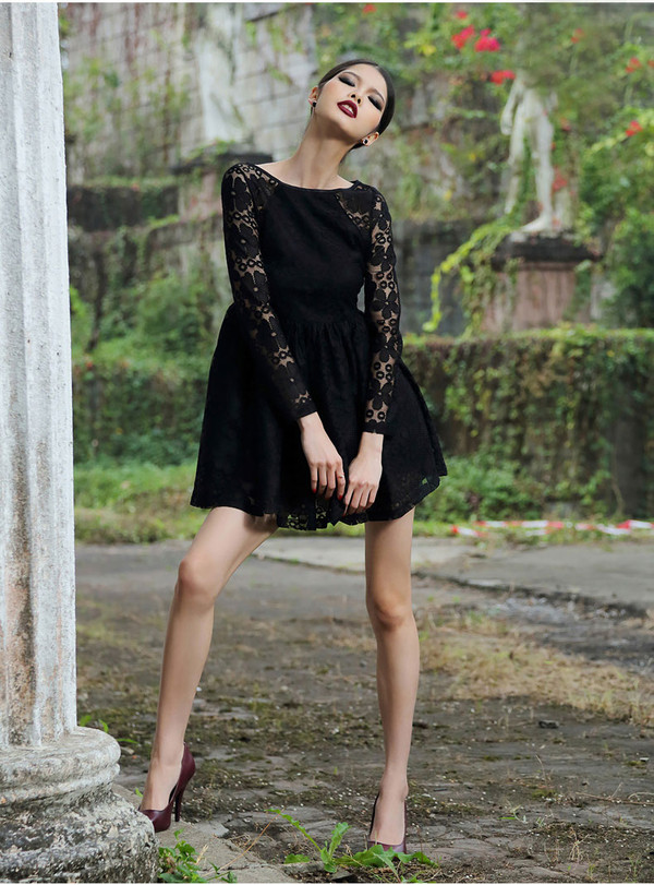 dress fashion lace lace dress short dress sexy dress sexy black dress black pretty dress outfit party