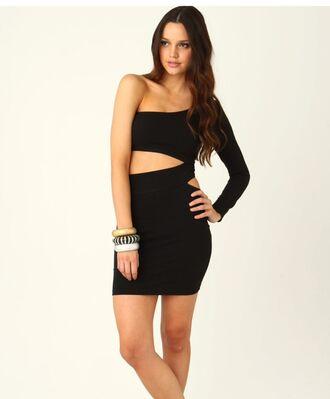 dress short cut-out xute style christmas short dress little black dress cut-out dress bodycon dress