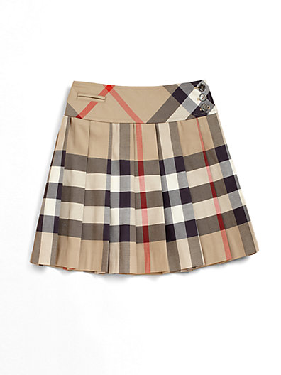 Burberry - Little Girl's Pleated Check Skirt - Saks.com