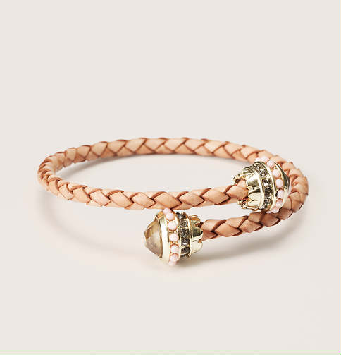 Neutral Leather Coil Bracelet | Loft