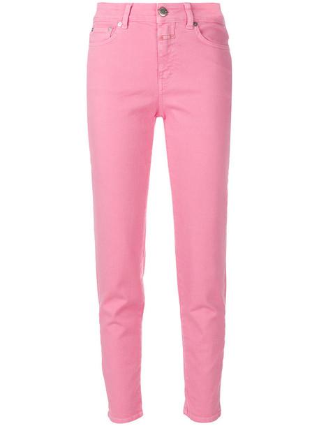 women spandex fit cotton purple pink pants