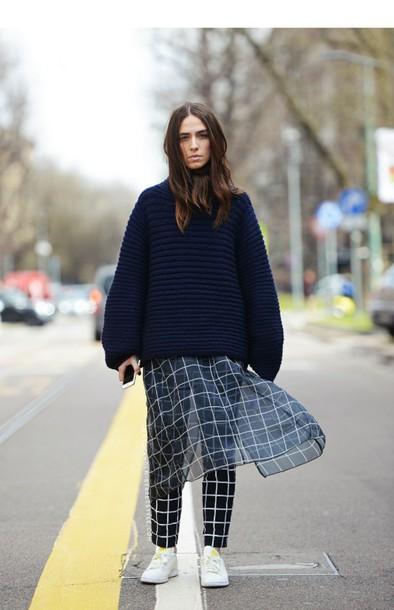 skirt plaid shirt knit knit skirt outfit findiing art pants sweater