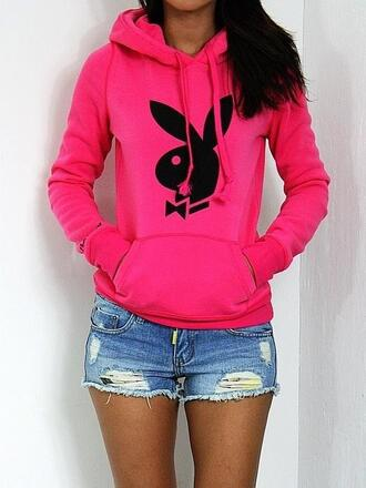 sweater hoodie fashion pullover playboy denim girly