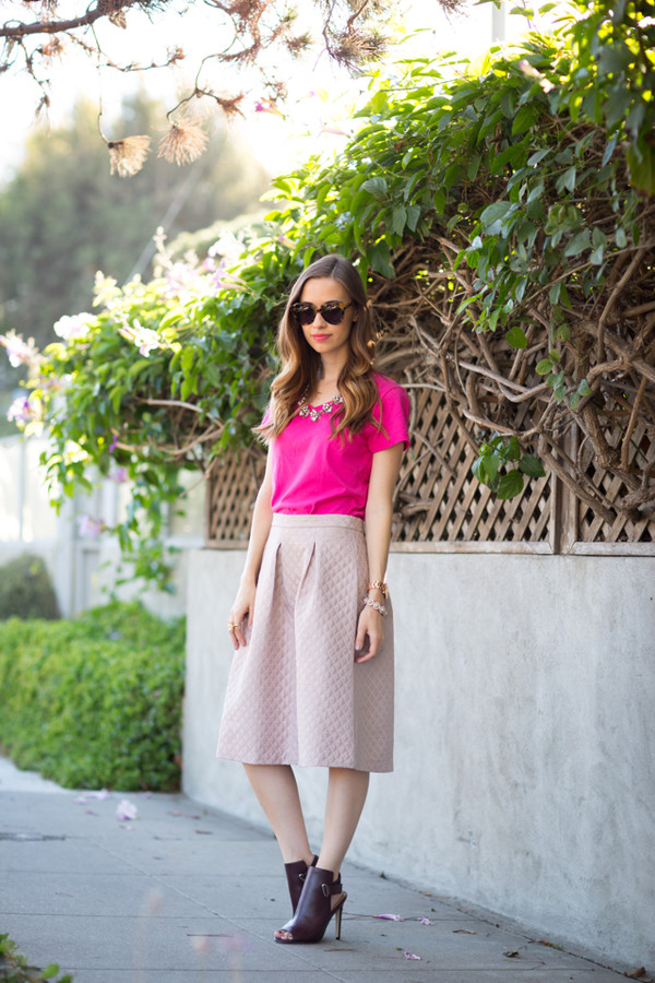 m loves m blogger top t-shirt skirt shoes bag jewels sunglasses