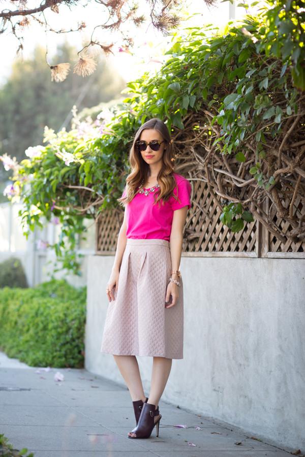 m loves m blogger top t-shirt skirt shoes bag jewels sunglasses