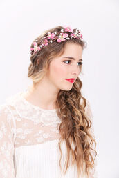 hair accessory,hair,headband,floral headband,accessories,hipster wedding,flower crown