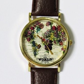 jewels,map watch,floral,flowers,freeforme watch