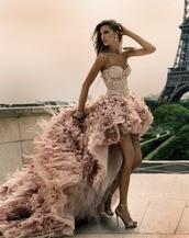 dress,pinterest,beige dress,pink dress,long dress,high heels,wedding dress,texture,wedding