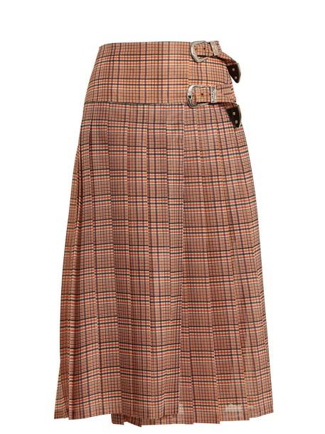 Toga skirt mesh skirt pleated mesh red