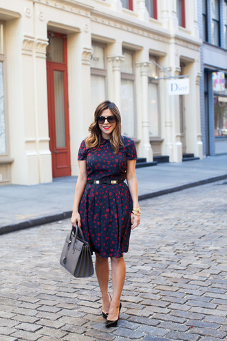 the corporate catwalk blogger printed dress belted dress