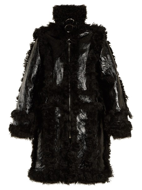 MARQUES'ALMEIDA coat leather black