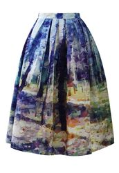 midi skirt,multicolor skirt