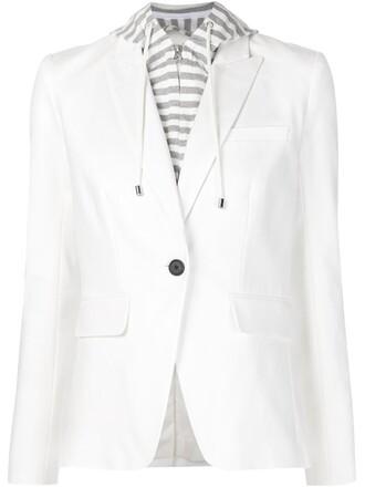 blazer layered white jacket