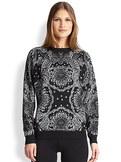 DKNY - Bandana-Print Sweatshirt - Saks.com