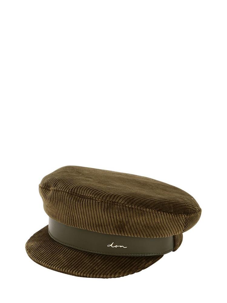 DON Corduroy Captain's Hat in khaki