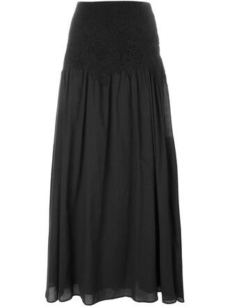 skirt maxi skirt maxi lace black